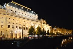 Architecture and beuty at night in prague stock photos