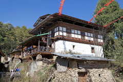 Architecture of Bhutan Royalty Free Stock Image