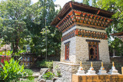The architecture of bhutan pavilion Royalty Free Stock Photo
