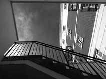 Architecture, Black-and-white, Brickwall Royalty Free Stock Photography