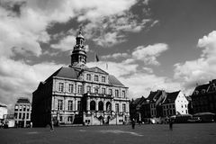 Architecture, Black-and-white, Buildings, Castle Royalty Free Stock Photos