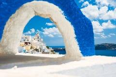 Architecture blanche sur l'île de Santorini, Grèce Image libre de droits