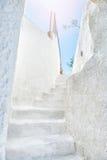 Architecture blanche sur l'île de Santorini, Grèce Images libres de droits