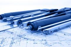 Architecture blueprint Stock Photos