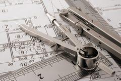 Architecture blueprint Royalty Free Stock Photo