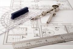 Architecture blueprint Stock Image