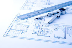 Architecture blueprint Stock Photography