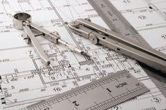 Architecture blueprint Stock Photography