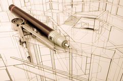 Architecture blueprint Stock Photos