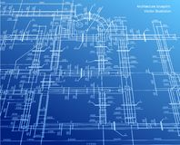 Architecture blueprint background. Vector Royalty Free Stock Photos