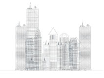 Architecture blueprint of corporate buildings Royalty Free Stock Photography