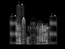 Architecture blueprint of corporate buildings Stock Image