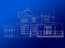 Architecture blueprint of a house Royalty Free Stock Photos