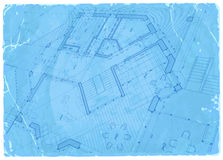 Architecture blueprint - house plan stock illustration