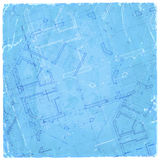 Architecture blueprint - house plan Stock Images