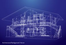 Architecture Blueprint Of A House. Vector Stock Images