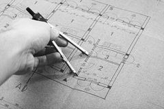 Architecture blueprint plan Royalty Free Stock Images
