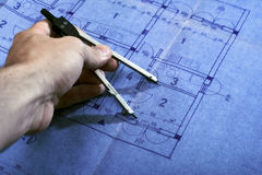 Architecture blueprint plan Stock Photography