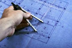 Architecture blueprint plan Stock Photography