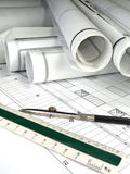 Architecture Blueprints Stock Photos