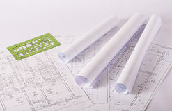 Architecture blueprints Stock Image