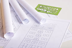 Architecture blueprints Stock Photos
