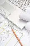 Architecture blueprints Royalty Free Stock Images