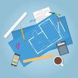 Architecture blueprints Stock Image