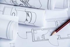 Architecture blueprints Royalty Free Stock Photo