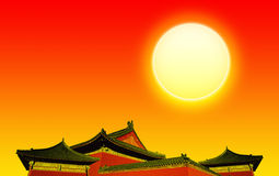Architecture bouddhiste chinoise Photos stock