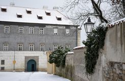 Architecture from Brandys nad Labem. With snow Stock Image