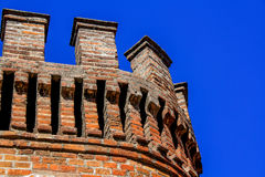 Architecture on brick fort at Santa Lucia Hill in Santiago, Chile. Royalty Free Stock Photos