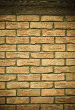 Architecture. Brick wall with wooden beam background Stock Images
