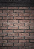 Architecture. Brick wall with wooden beam background Stock Photo