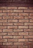 Architecture. Brick wall with wooden beam background Royalty Free Stock Images