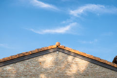 Architecture brickwork vintage gable and sky Royalty Free Stock Images