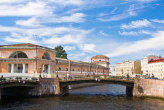 Architecture and bridges of St. Petersburg Royalty Free Stock Photo