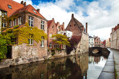 Architecture of Bruges city Stock Image
