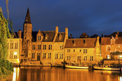 Architecture of Bruges at sunset Royalty Free Stock Image