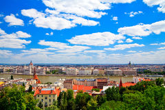 Architecture of Budapest City Stock Images
