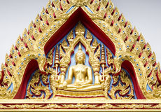 Architecture of a buddha statue in thai painting style Royalty Free Stock Photo