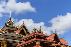 Architecture of  buddhism temple Royalty Free Stock Photo