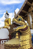 Architecture of Buddhist temples in Chiangmai Stock Image