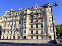 Architecture with building facade along Seine River, Paris, France Stock Photography