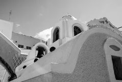 Architecture and building, Greek church bell tower. In Oia, Santorini, Greece Stock Image