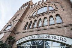 Architecture, building, modernist style, Castle, Castell dels Tr. Es Dragons, by Lluis Domenech i Montaner, Park Ciutadella, Barcelona. Spain stock image