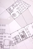 Architecture building plans, office building Royalty Free Stock Photo