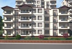 Architecture building render. 3d, architect, architectural, architecture building render Stock Image