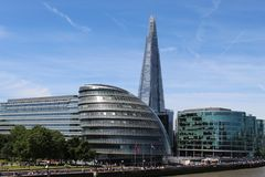 Architecture building Shard London royalty free stock image