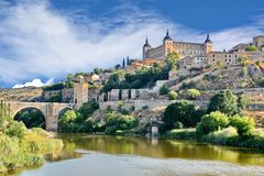 Toledo Spain. Architecture of building in Toledo Spain royalty free stock images